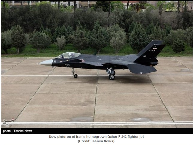 New pictures of Iran's Qaher F-313 alleged stealth fighter jet emerged