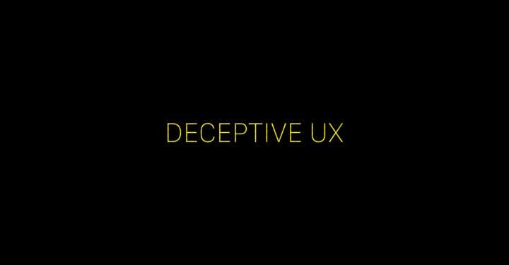 Deceptive #UX: Why It's bad for business: https://t.co/L2pBP9NUl9 https://t.co/702iIUZB1n