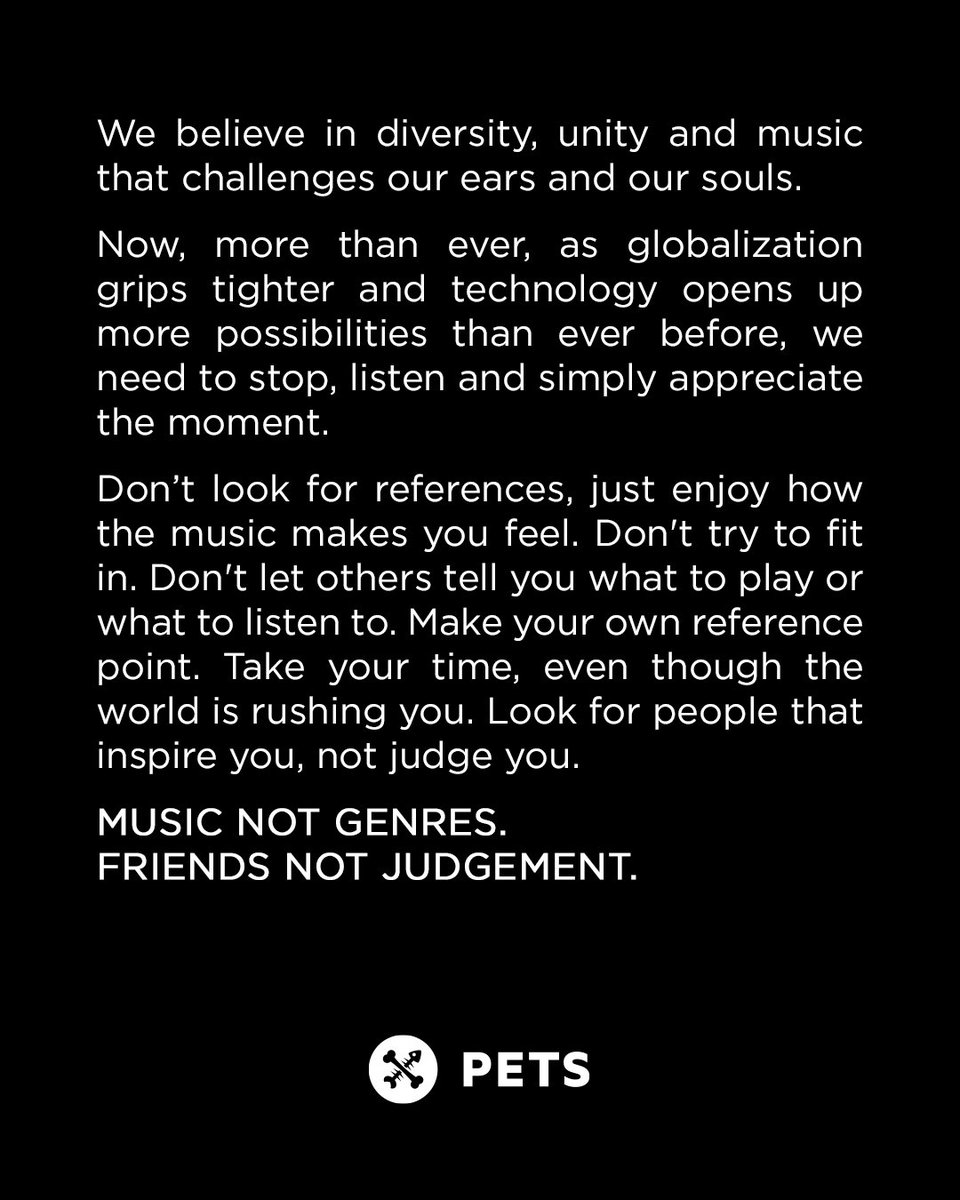 Shout out to all our friends that care!  #musicnotgenres #friendsnotjudgement #CnD #petsrecordings<br>http://pic.twitter.com/8EJibxz6ER