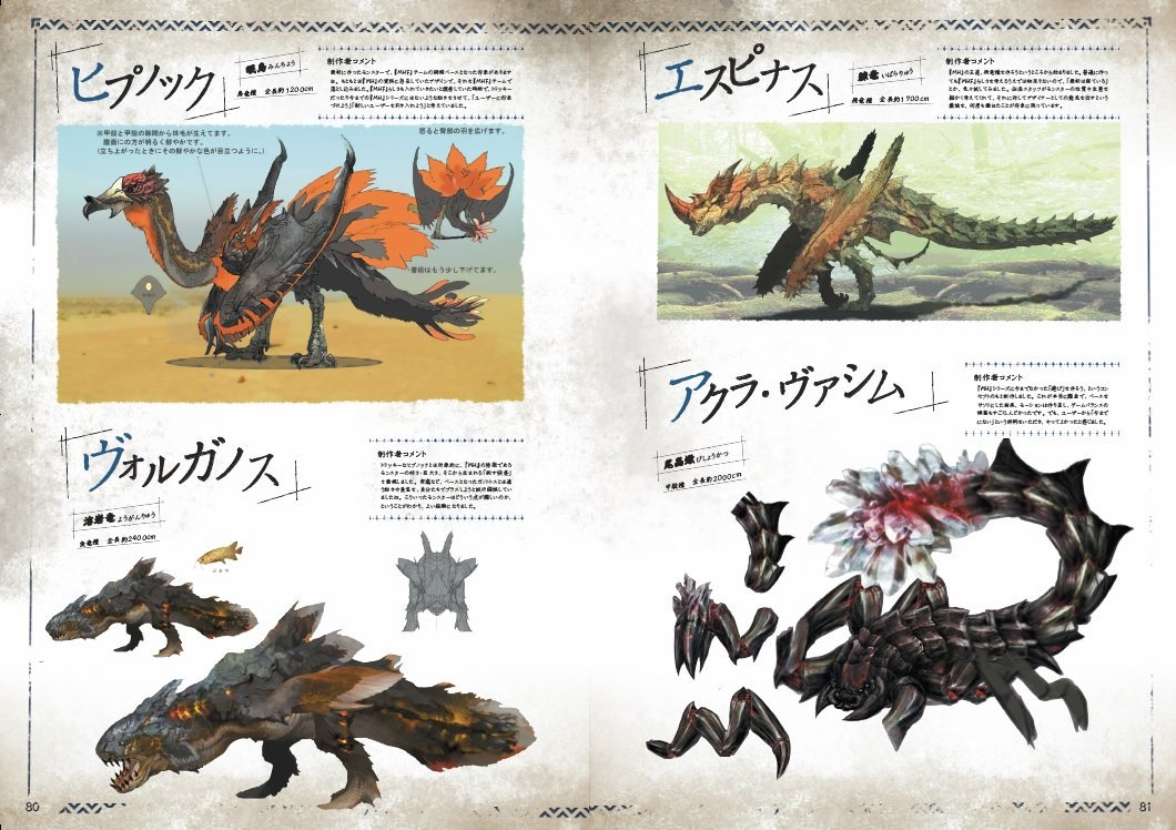Monster Hunter Concept Art Book