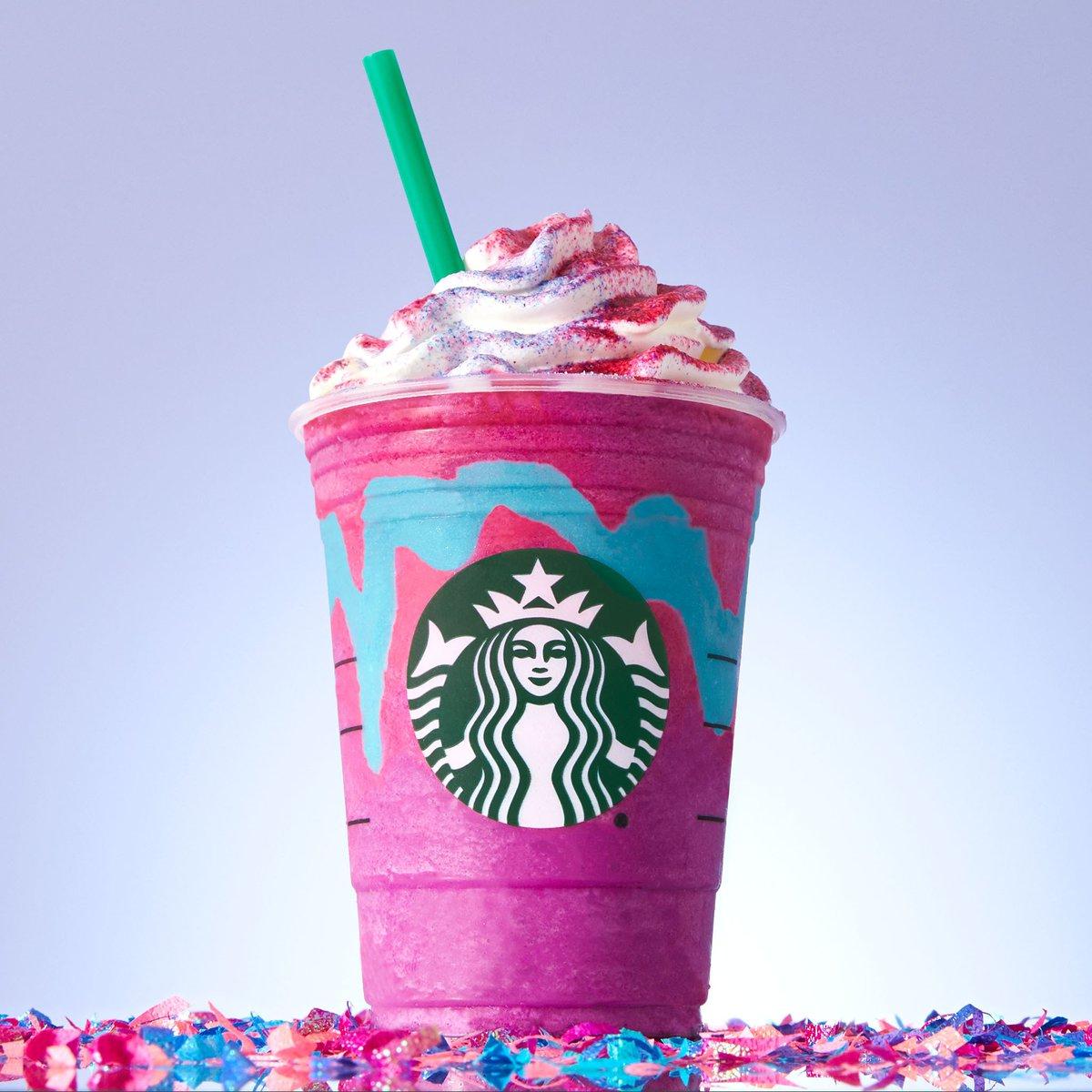 ピンクとブルーの魅惑の味!?ユニコーンフラペチーノの見た目がやばい!