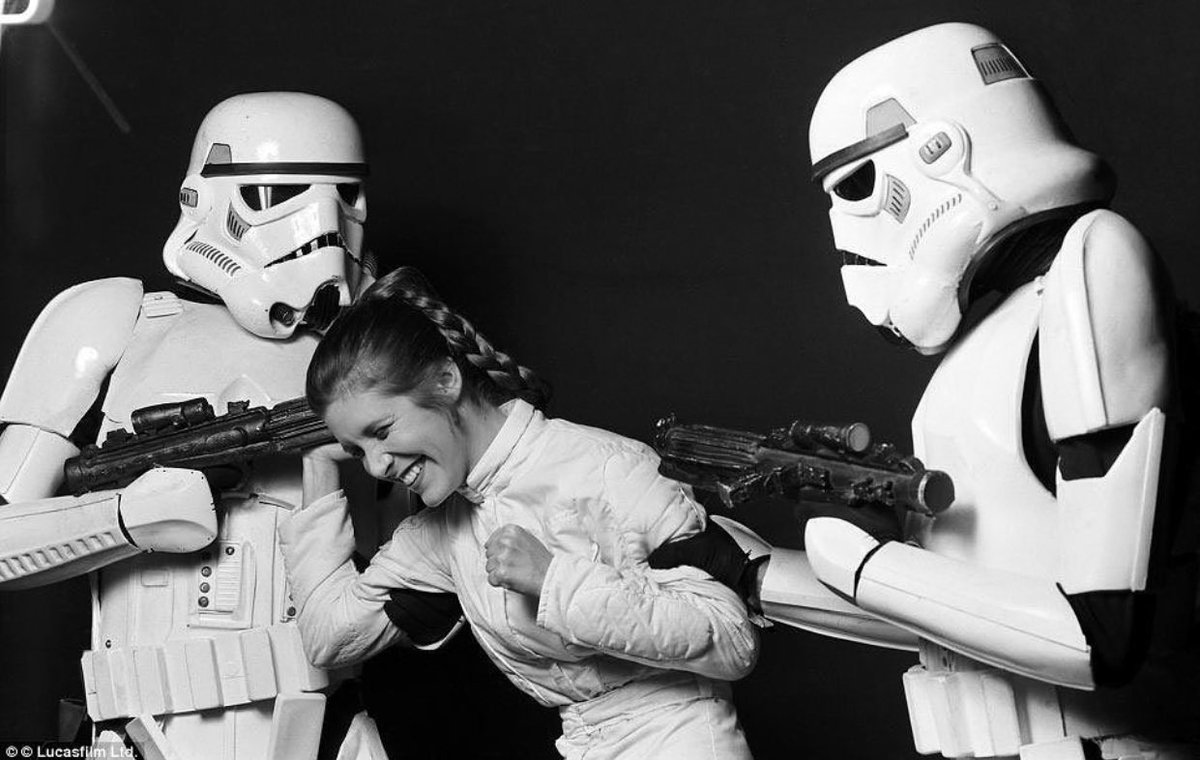 WHAT YOU DIDN&#39;T KNOW WAS THAT #PrincessLeia HAD A REAL THING FOR US STORMTROOPERS... #TK007 #StarWars<br>http://pic.twitter.com/WqJkFpe6ZV