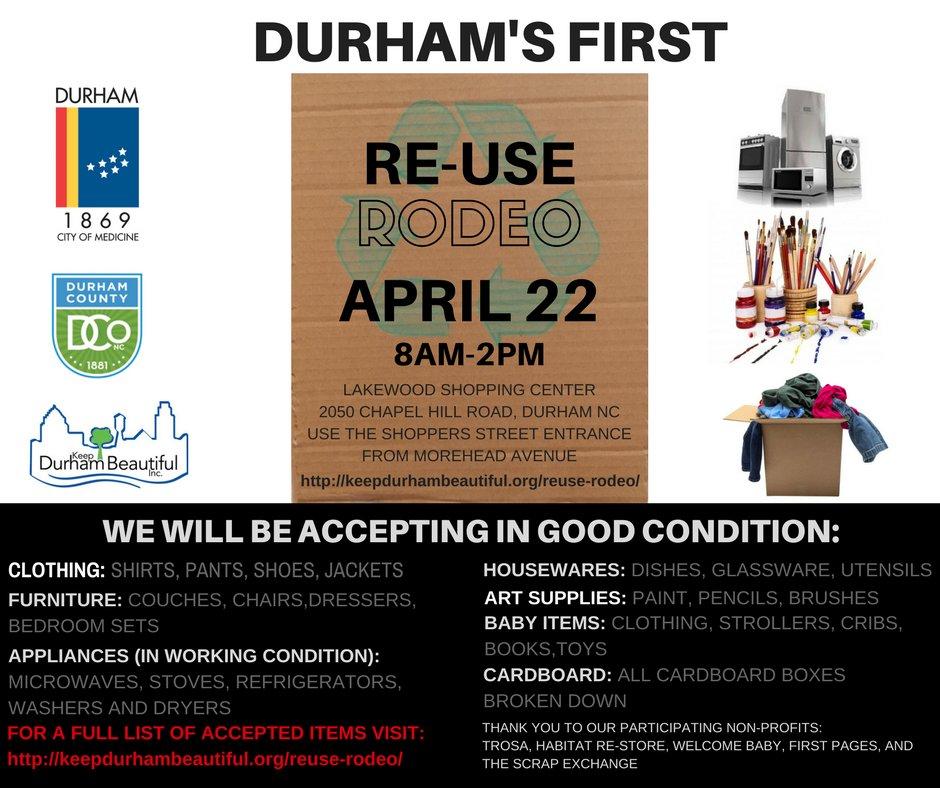 Cityofdurhamnc On Twitter Want To Get Rid Of Unwanted Items