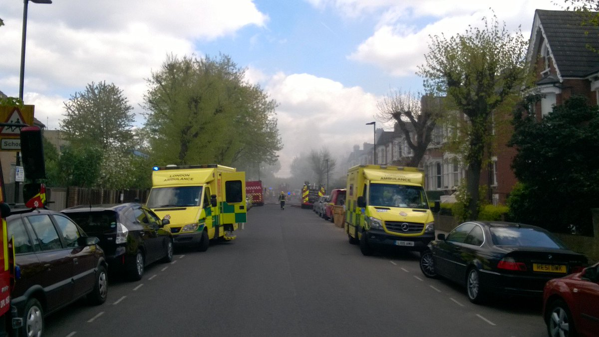 The London Ambulance Service treated three people after the explosion
