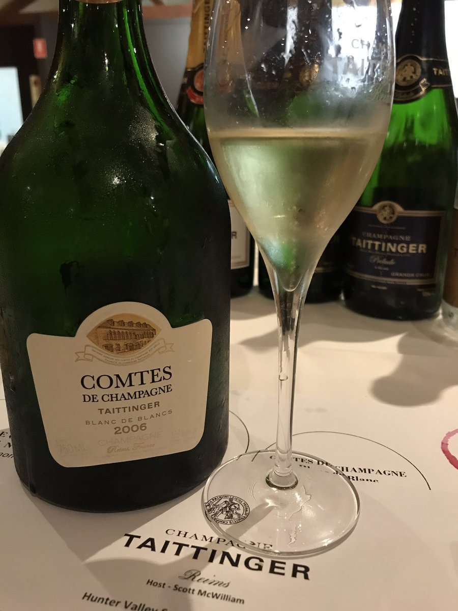 Champagne of the night @TaittingerAU #Comptes de Champagne 2006 BlancdeBlanc @scottmcwilliam @Rufuswino  Cathygadd<br>http://pic.twitter.com/LkETOK4EHL