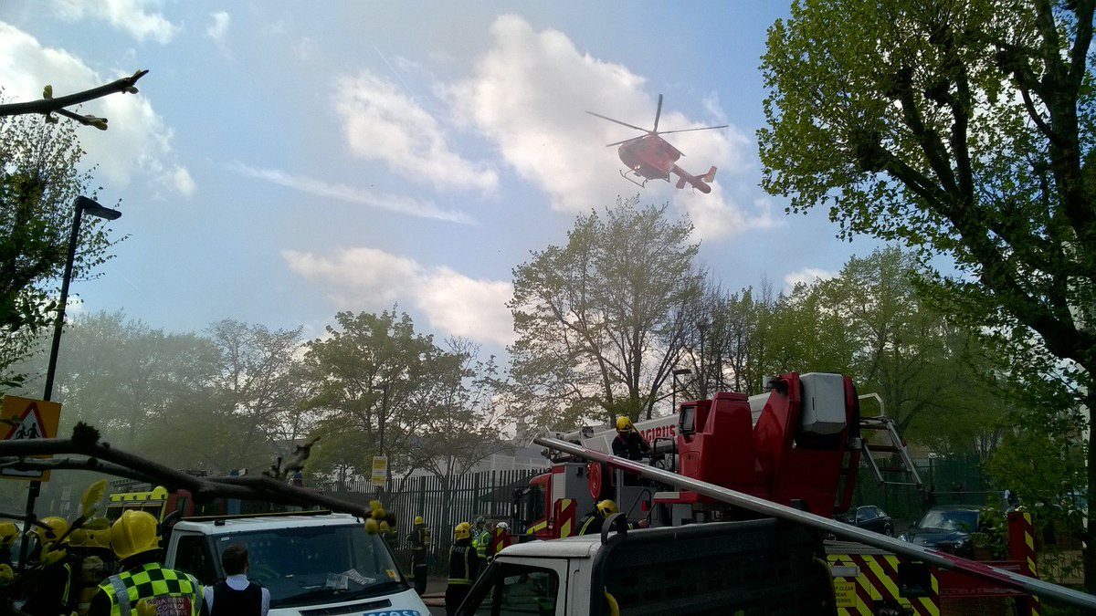 The air ambulance was also dispatched following the disturbance