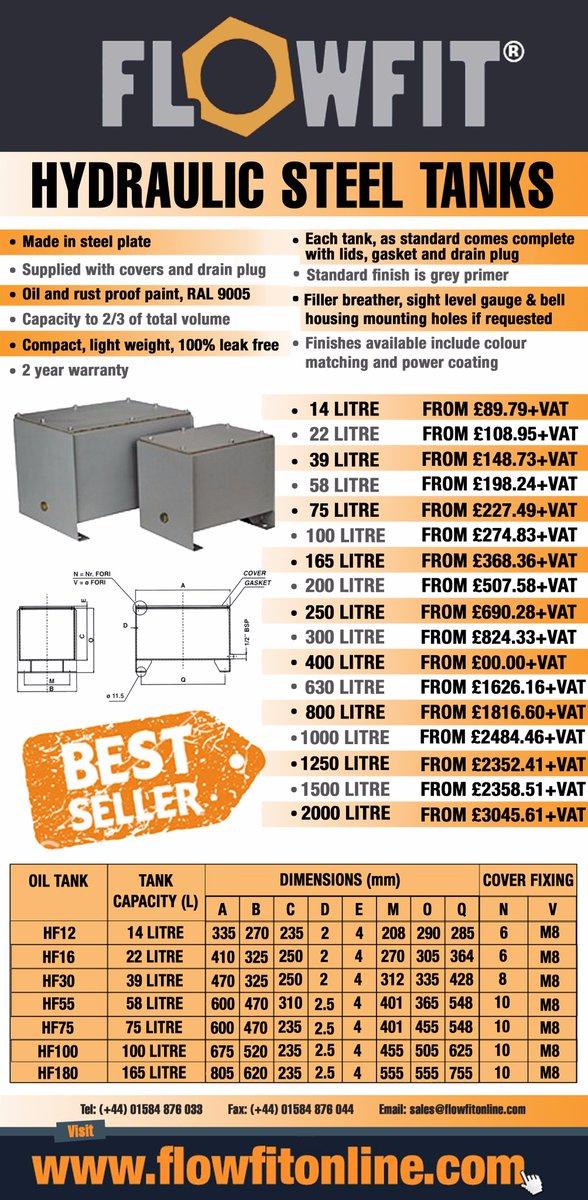 Flowfit Hydraulic Steel Tank