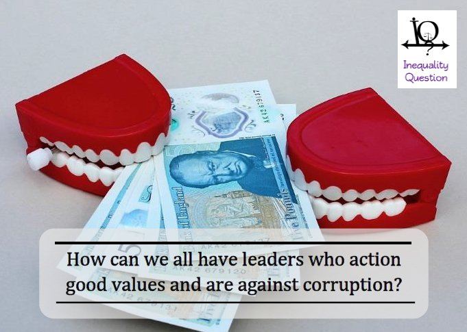 Join the #debate! This month's #question: How can we all have #leaders who action #good #values and are #against #corruption? https://t.co/08Vqu7zQh7