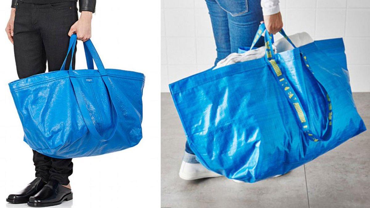 Balenciaga выпустила фейковую сумку IKEA за 2,5 тысячи