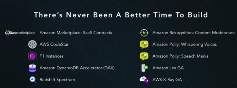 AWS new features reflect repositioning from cheap cloud resources to cloud applications and intelligence. Pressure from Google? #AWSSummit https://t.co/pjPRi8EtN5