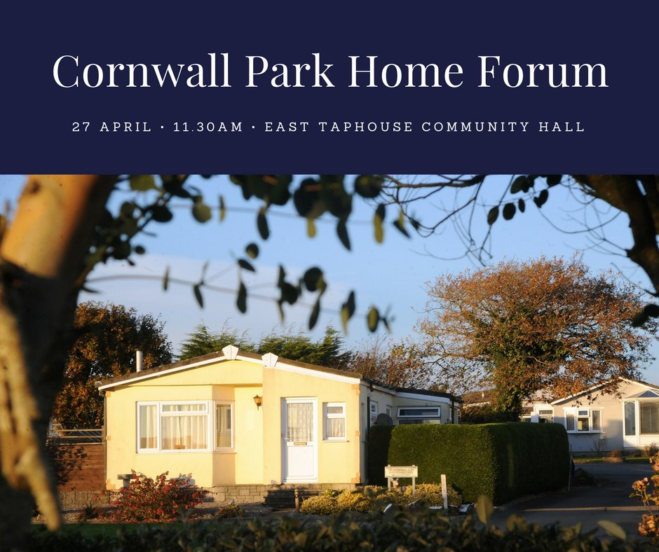 Live In A Residential ParkHome Or Know Someone That Does The Cornwall Park Home Forum Has An Event CornwalHour