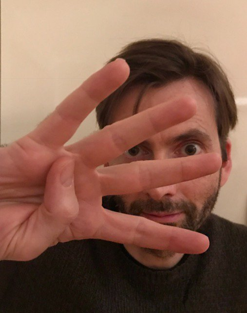 David Tennant supporting the #1in4 campaign for mental health awareness