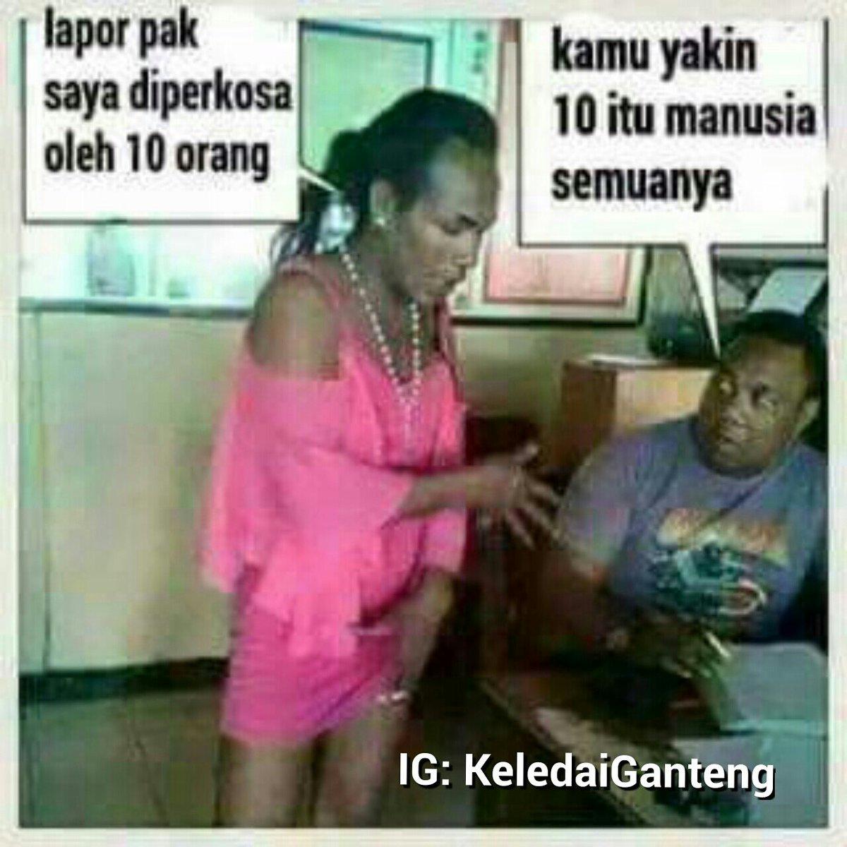 """Ο χρΠστης Keledai Ganteng στο Twitter """"Diperkosa Siluman"""