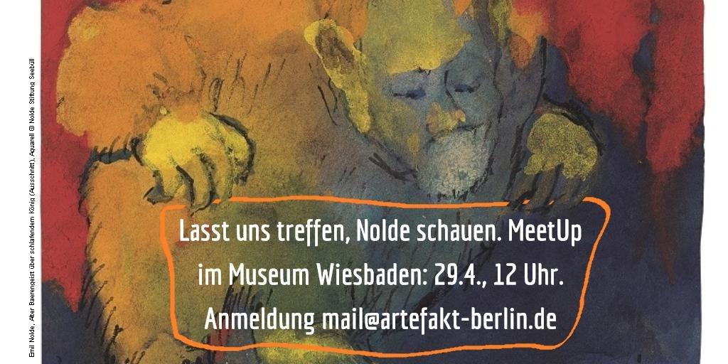 Museum Wiesbaden lädt Kulturblogger, Instagrammer & Twitteratis zu einem MeetUp am 29.4., 12 Uhr https://t.co/24G5JCvgg7 #iseefaceslikenolde https://t.co/m16v1mJVxt