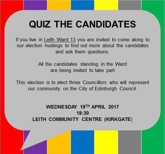 Not long now until our #LeithHustings | #Leith https://t.co/I3augJaerl