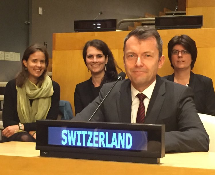 #Switzerland just elected as Member of @UN Commission on Narcotic Drugs. Thanks to all #ECOSOC Members who supported our candidature! #CND <br>http://pic.twitter.com/mQuVUZ0SnP