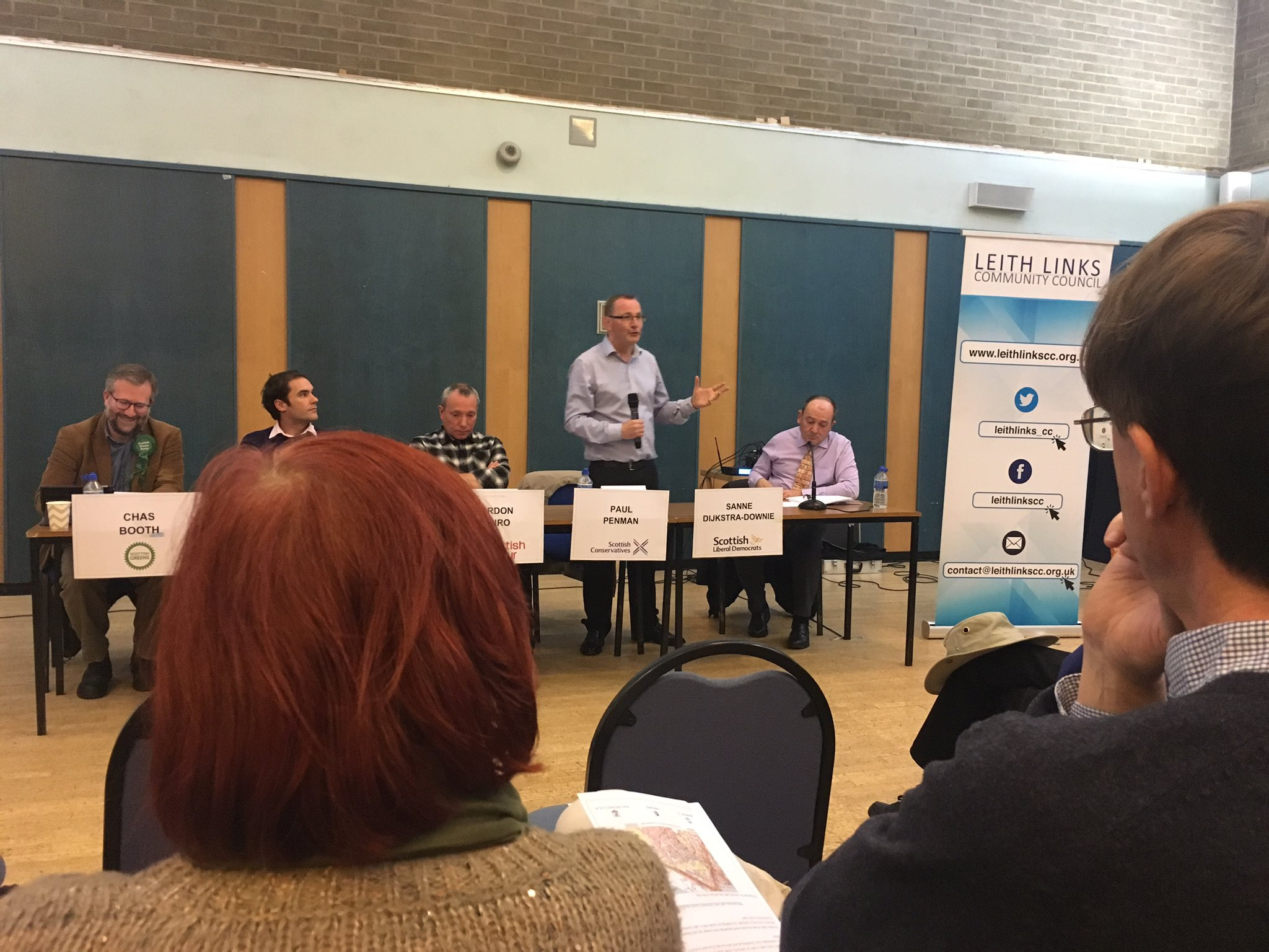 A debut hustings for Paul Penman tonight - he's nailed his introduction - now it's question time - trams up first #LeithHustings https://t.co/FmRi1hC0JV