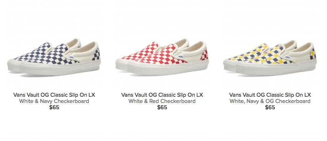 vans vault slip on lx checkerboard