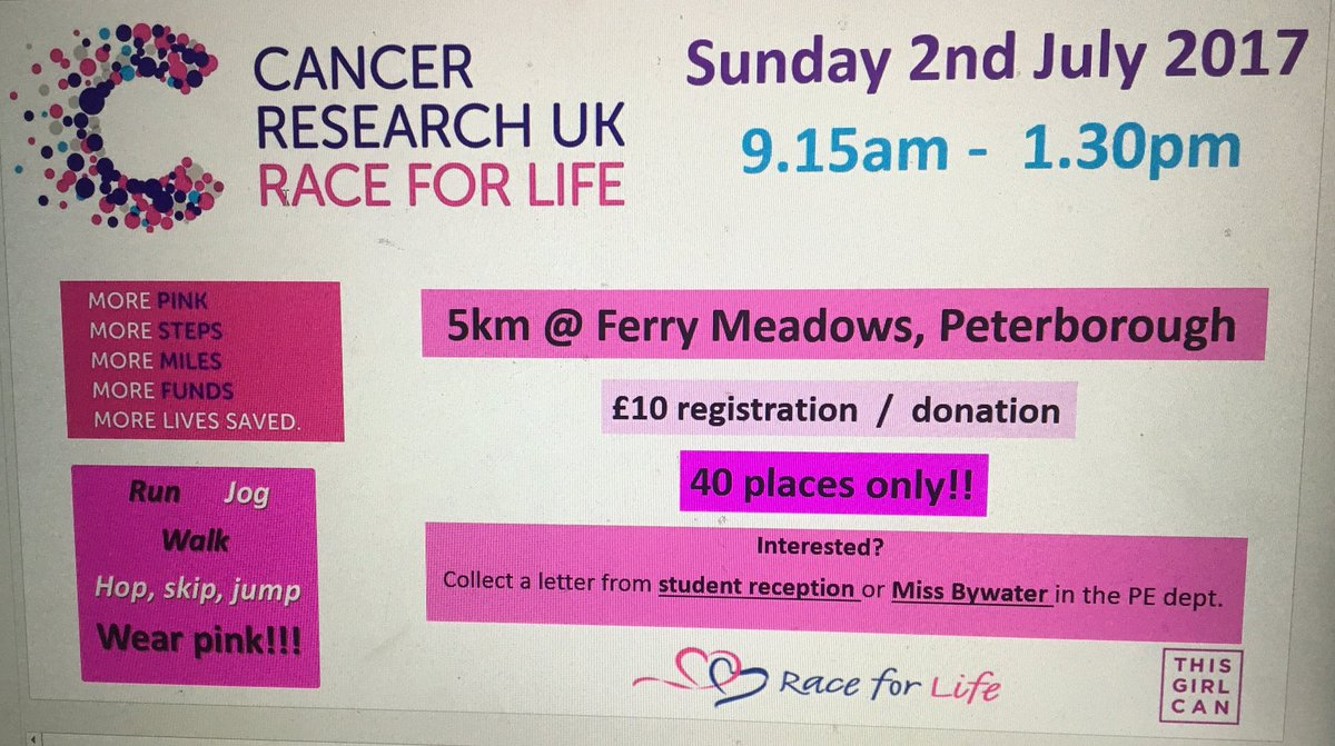 GIRLS....Have you signed up yet?! #raceforlife #5km <br>http://pic.twitter.com/aiiLSbHm6t