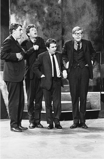 Happy birthday Dudley Moore With Peter Cook, Jonathan Miller & Alan Bennett in Beyond the Fringe Hulton Deutsch