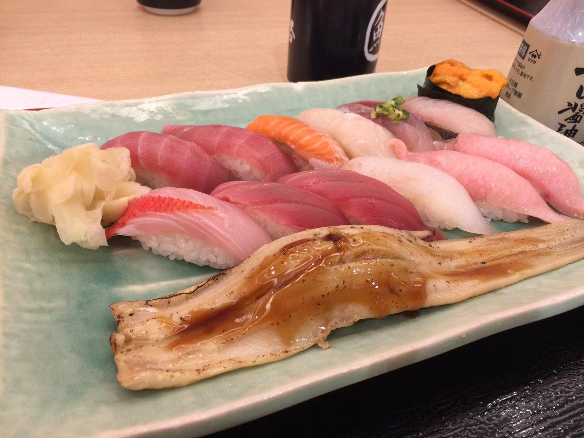 いまアメリカで一旦乗り継ぎ♪ 出発前お寿司食べた!(´∀`)