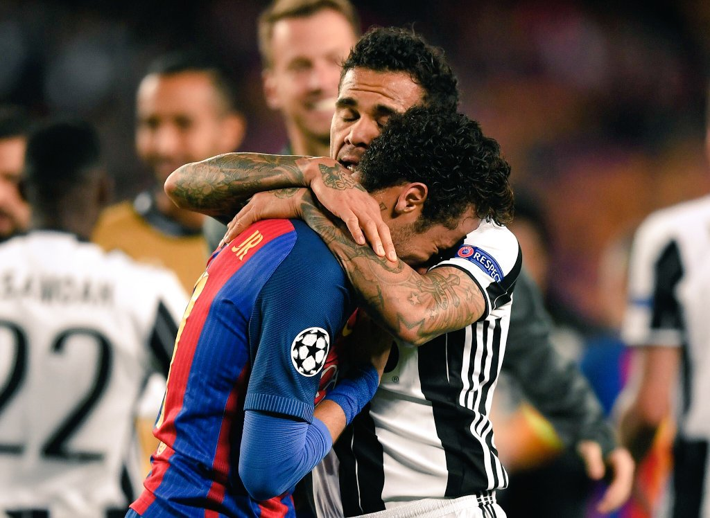 Neymar in lacrime al termine di Barcellona Juventus
