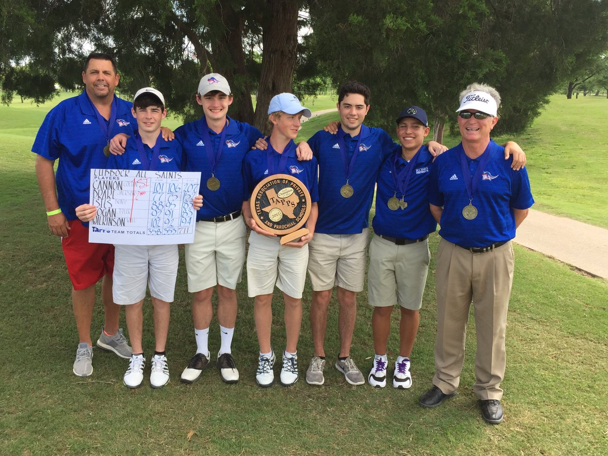 All Saints HS Boys Golf wins their 2nd TAPPS State Golf Title in three years. @pchristy11 @LoneStarVarsity @AllSaintsPride