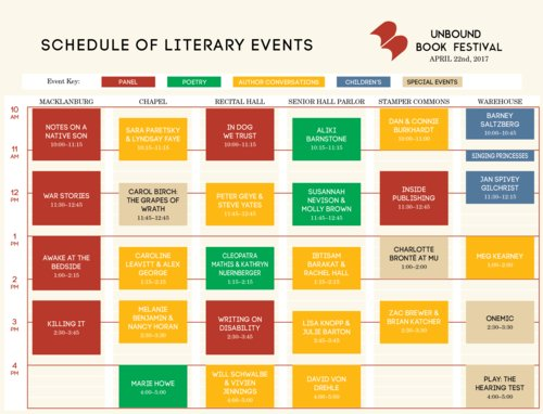 UNBOUND RETURNS!   Literary lights, local authors headline CoMo book lover's fest