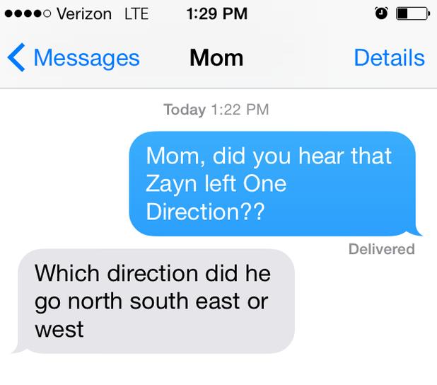 Lmaoooo Rt Buzzfeed  Parents React To Zayn Leaving One Direction Bzfd It Lzovy Pic Twitter Com Xjfomkqg
