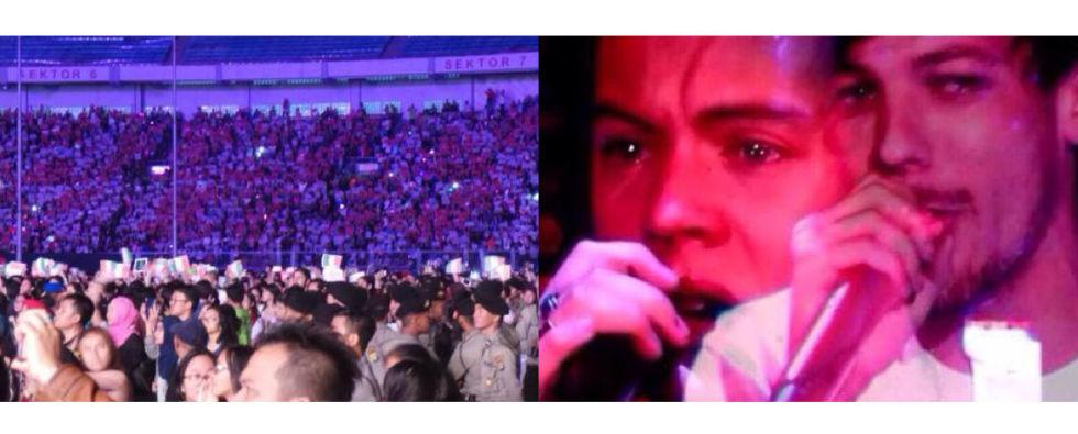 Louis Tomlinson and Harry Styles cried on stage in Jakarta before Zayn Malik announced split http://t.co/HmcNTNZ2Xt http://t.co/PqmH1SX1L7
