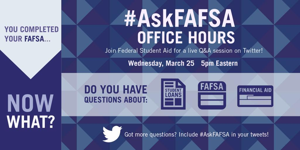 Thumbnail for March 2015 #AskFAFSA Office Hours: You Completed Your FAFSA... Now What?