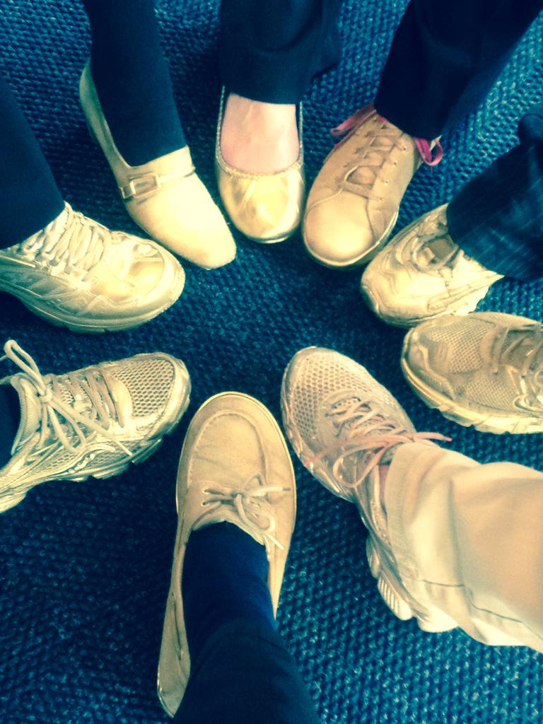 If you're at our 25th anniversary tonight, you can recognize our staff by our Golden Shoes. http://t.co/5iZmDRKYYI