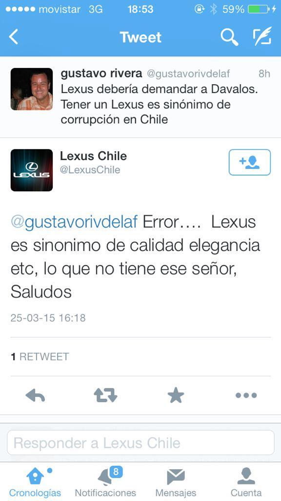 Este troleo de @LexusChile a Sebastián Dávalos debe ser lo más épico de la jornada. http://t.co/CngcP8G59a