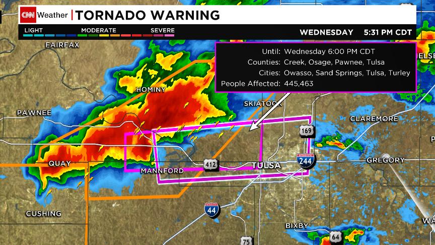 Confirmed #tornado west of #Tulsa. Tornado warning includes downtown Tulsa. #okwx