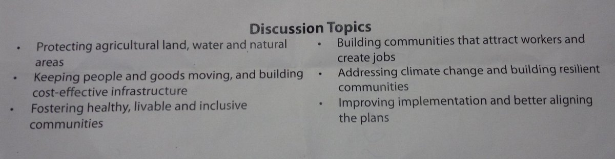 RT @thedaleykate: We're being asked about 6 topics, but also linkages between them. #landuseON http://t.co/t2fAYZQ9yC