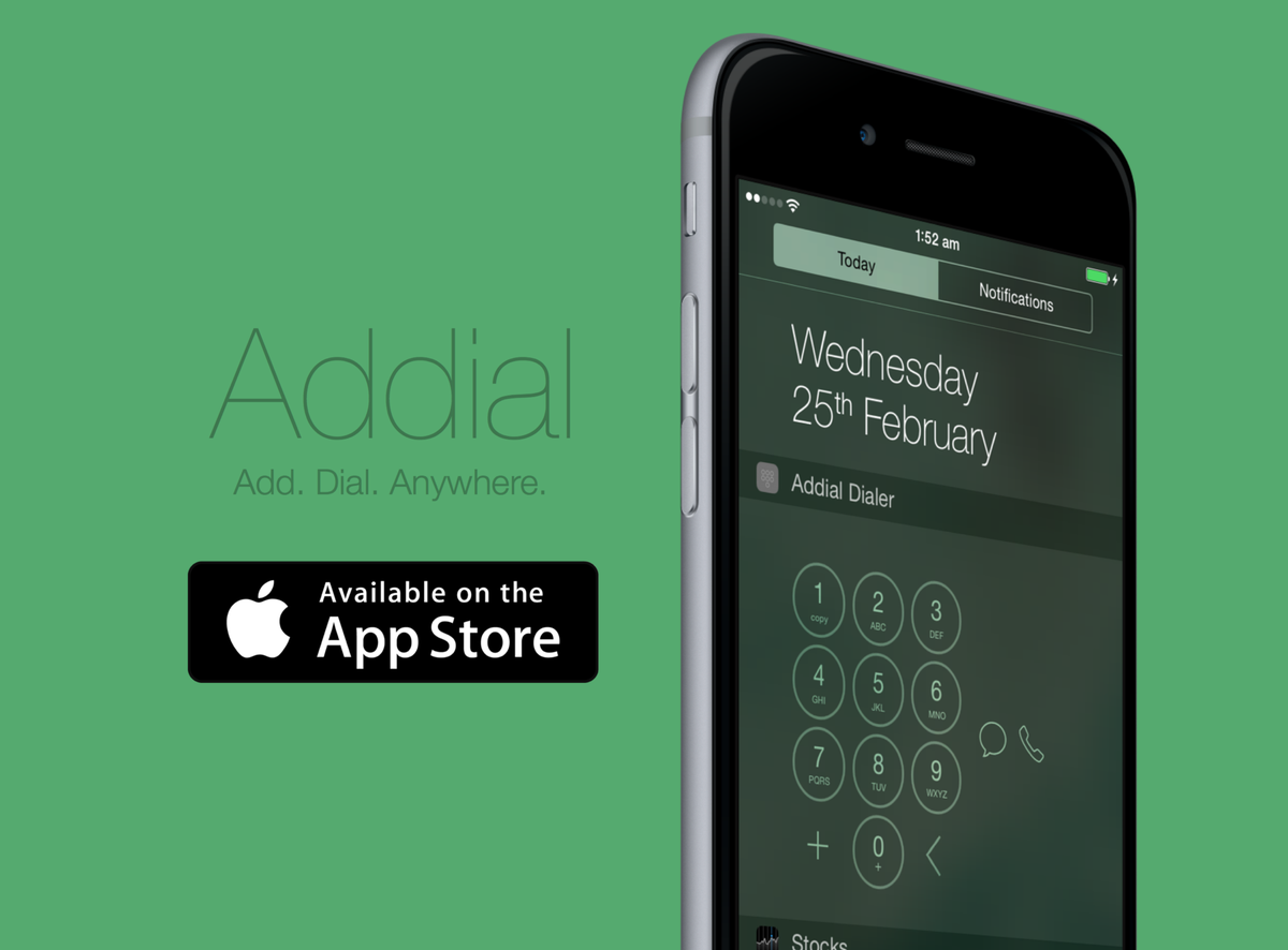 Introducing Addial. For all iPhone users (iOS 8+) https://t.co/VZKgkaybvL http://t.co/7fB1JMKKhO