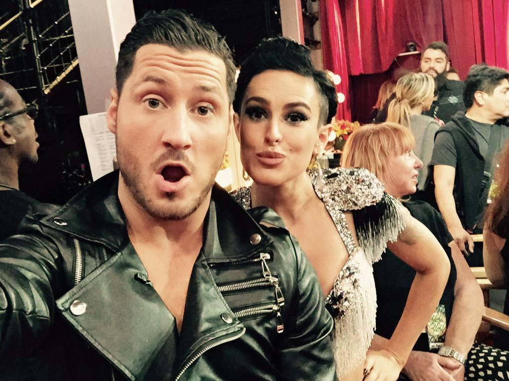 Rumor has it....time to get ready to Cha-Cha!! #DWTS Tune in and VOTE #TeamValenRue 855-234-5610 http://t.co/09mi9Bp7ae