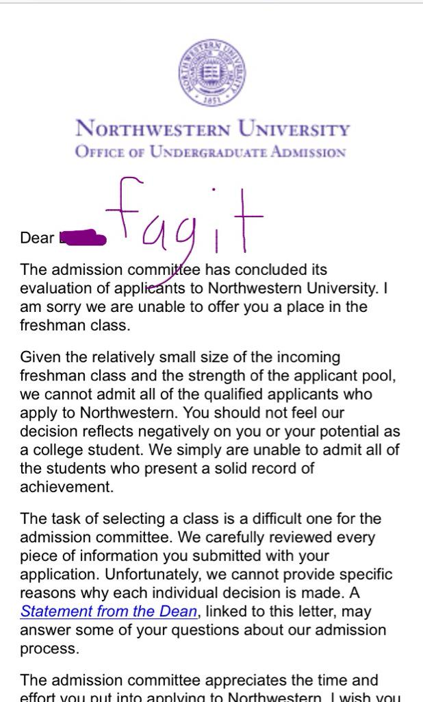 OFFICIAL Northwestern CLASS OF 2020 Discussion Thread
