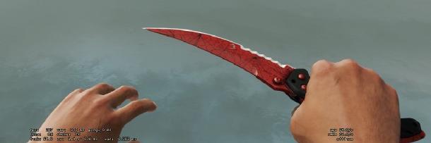 flip knife crimson web