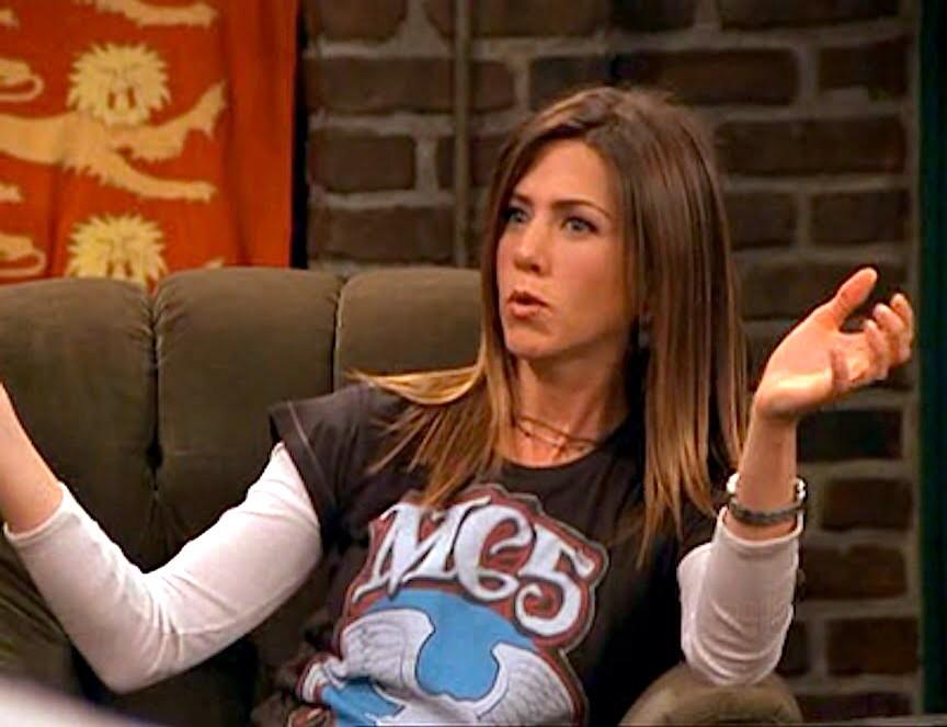Image result for rachel green mc5 shirt