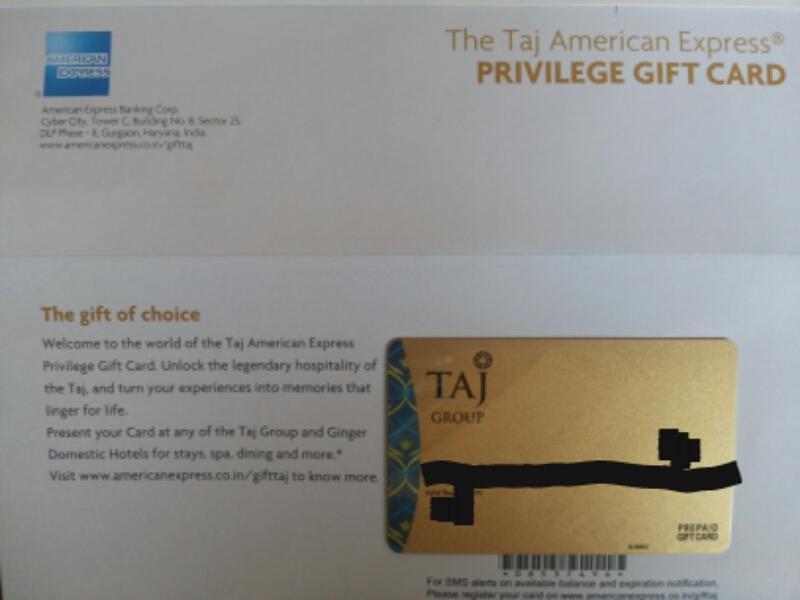 @thefreejinn Further Discount Now 4k TAJ Group AmEx Privilege Gift Card for only 2k Amazon/FK/Myntra/Etc vouchers Thxpic.twitter.com/wAAVZqDi1h