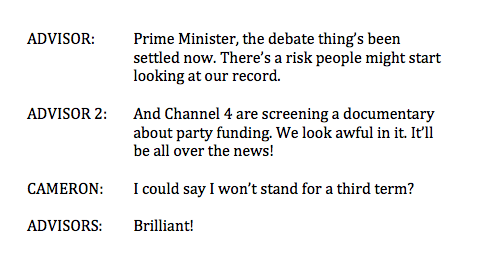 Revealed. The conversation in Downing Street about Cameron's third term. #ThirdTermEconomicPlan. http://t.co/6Wbd30b7jI