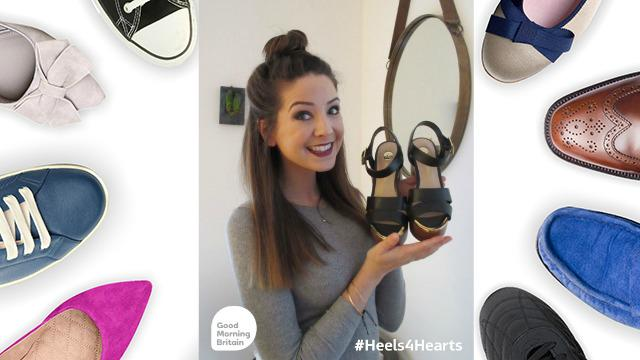 #YouTube blogger @ZozeeBo has donated her shoes to help fund CPR kits in schools http://t.co/kqXf9pZsA2 #Heels4Hearts http://t.co/hobgkAtD6J