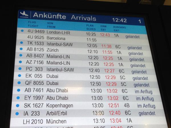 düsseldorf airport arrivals