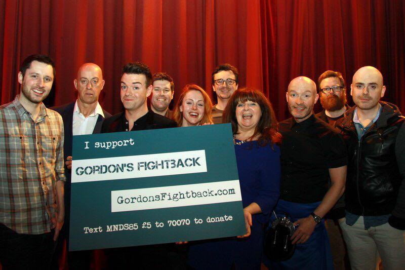 RT @GordonAikman: Sneaky snap from last night's #GordonsFightback #MND benefit gig @GlasgowComedy for @MNDScotland — Thanks guys! Epic. htt…