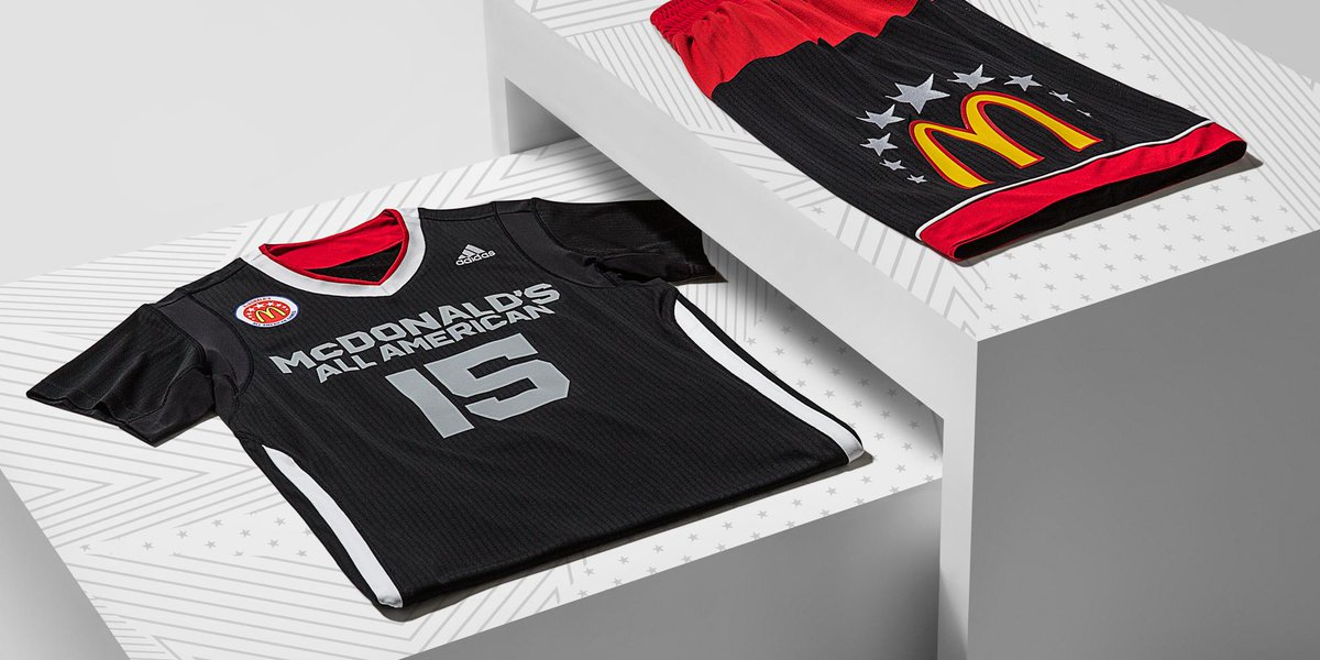 sports shoes 7ea77 fecc2 Sharp RT adidasHoops The McDonalds All American Game uniforms, made for  the nations top players. McDAAGpic.twitter.com6np28yrLgB