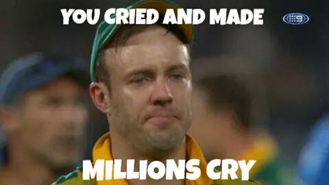 Ab de villiers crying pics