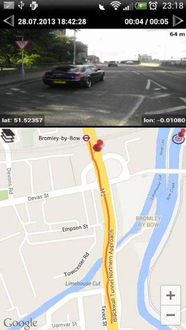 Android App: Dash Cam - Telecamera di Sicurezza per Auto