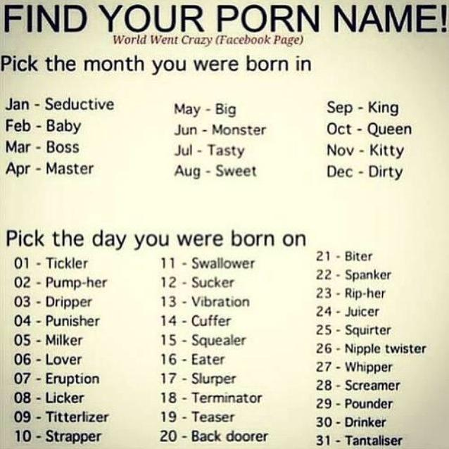 What s my porno name