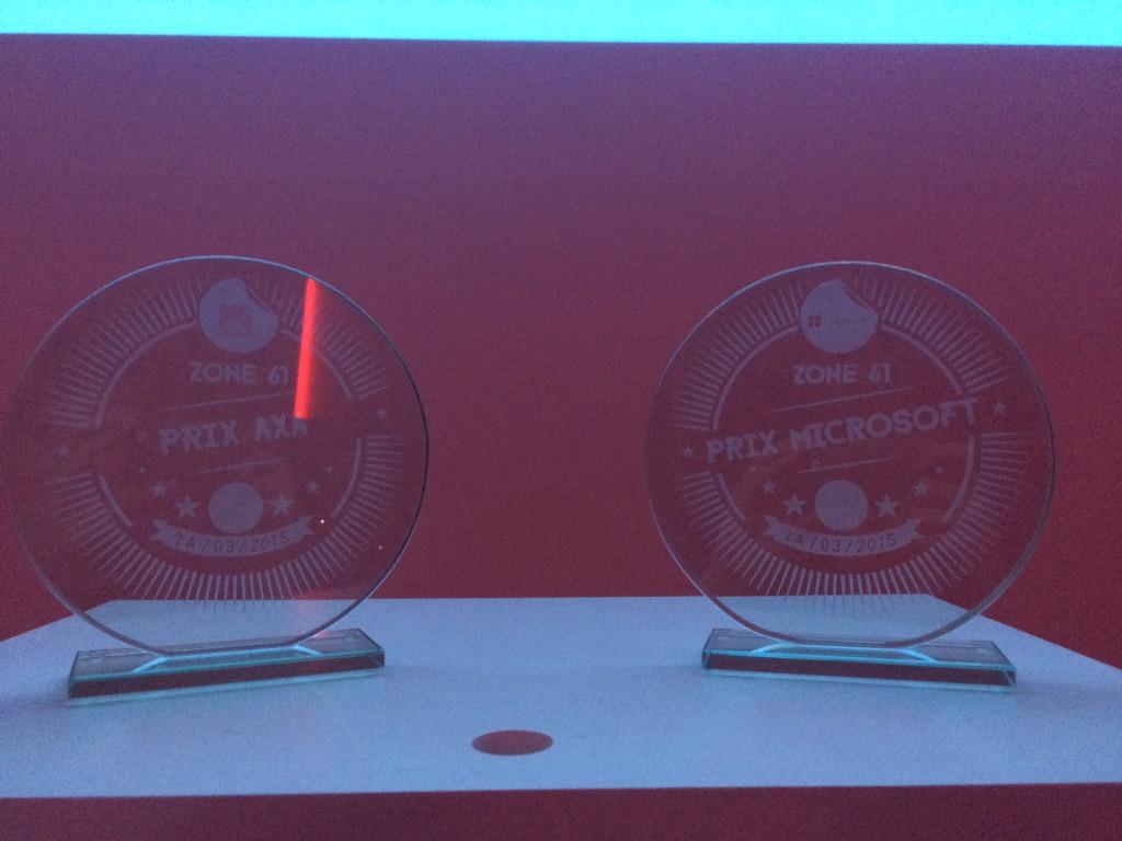 Les prix Microsoft et AXA du Hackaton zone 61